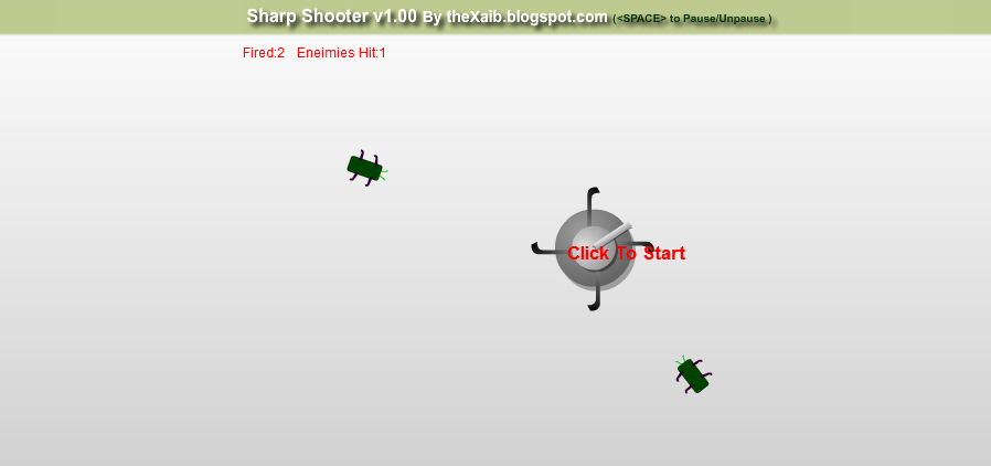 Cover: Sharp Shooter Mini Game In Flash